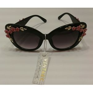 New UV 400 protection flower cafeteria sunglasses